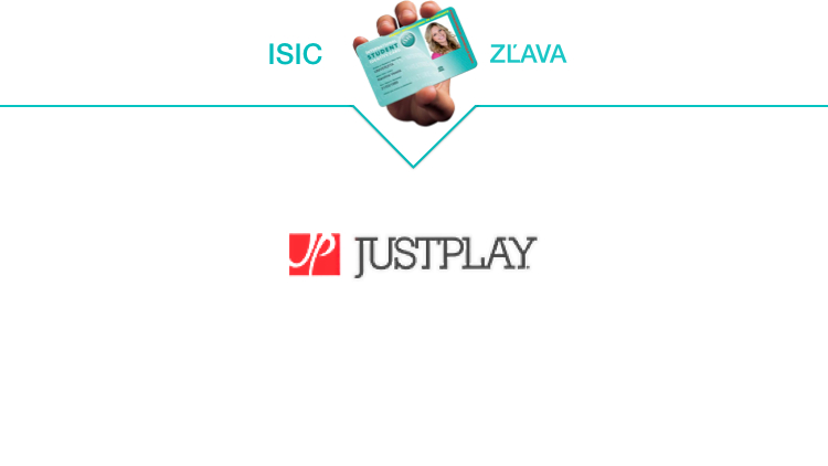 justplay isic zlava