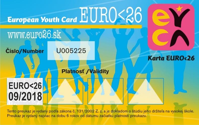 7c51d3c50 Univerzitný preukaz externého študenta EURO<26 je nálepka, ktorú si nalepíš  na zadnú stranu tvojho univerzitného preukazu externého študenta (takže  nemusíš ...